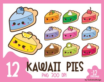 35% OFF, Pie clip art, cake clipart, pie clipart, cake clip art, kawaii pie clip art, kawaii cake clipart, piece of pie, Commercial Use