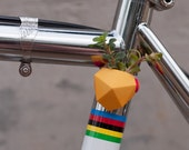 Geometric Bike Planter, in Bright Yellow: Wearable Planter