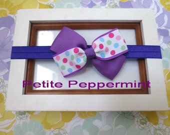 Purple Baby headband, baby girl headband,purple toddler headband, Baby Hair Bow, Baby Head Band,Baby Bow Headband