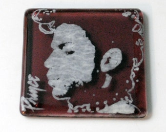 Prince Fused Glass Coaster, Rock and Roll, Purple Rain, Innovator