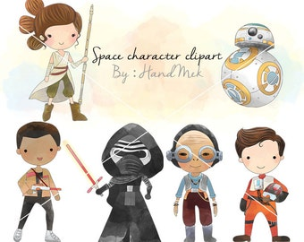 Space character clipart set 2 PNG file-300 dpi