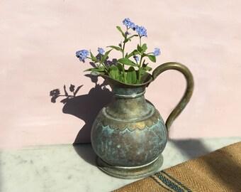 Verdigris vintage jug
