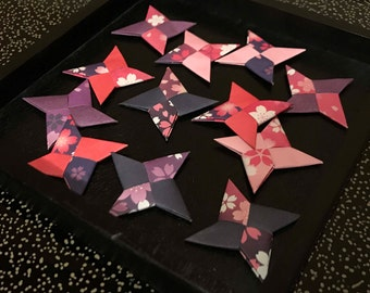 Japanese origami 12 Throwing Stars