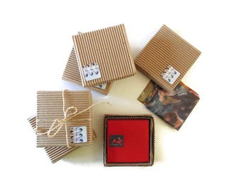 Mini Corrugated Box for Individual and Gift Mini Stationery Sets