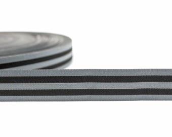 WebBand stripes Black Farbenmix (2.10 EUR/meter)
