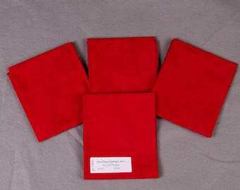 Strongest Red Hand-Dyed Quilting Cotton Fat Quarter
