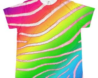 Rainbow Zebra Youth T-shirt