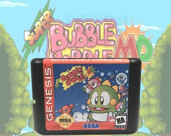 Super Bubble Bobble fan made Sega Genesis / Mega Drive Repro reproduction