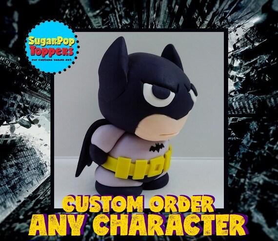 Fondant Batman Custom Edible Cake Topper Batman Cake