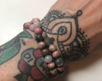 Rhodonite Stretchy Wrap Bracelet
