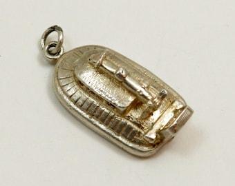 Vintage Sterling Silver Hovercraft Charm Pendant, English Charm