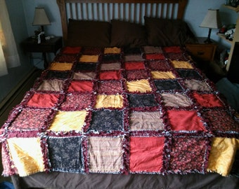 Rag quilt approx 90x90