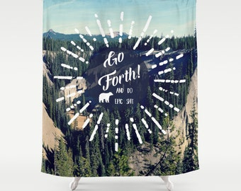 Fabric Shower Curtain, Bathroom Decor - Wilderness, Adventure, Mountains, Landscape, Nature Photography, RDelean