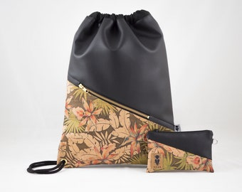 Turn bag cork tropical in set or individually
