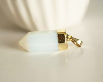 Tip holder gold Opalite-40 mm pendant
