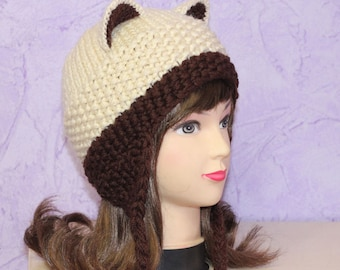 Crochet Cat Ears Hat, Cat Ears Beanie, Cat Beanie, Cat Hat, Winter Accessories, Holiday Fashion, Winter Hat
