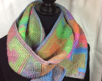 Luxury Mitered Scarf, Amazing yarn