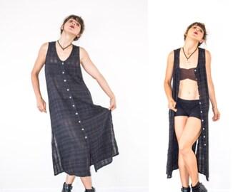 90s Goth Boho Naturalist Dress///size S-M