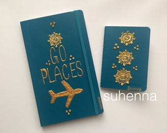 go places henna travel journal set