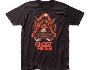 Ghost Rider Ghost Ride Soft 30/1 Men's Cotton Tee (GR05) Black