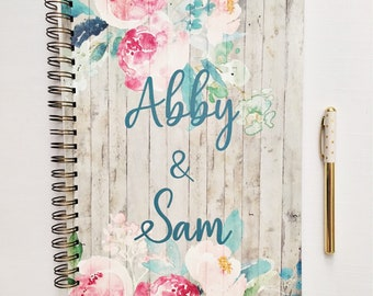 Custom Wedding planner, wedding planner book, bridal planner, wedding organizer, wedding checklist, wedding binder, gift for her