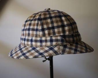 Rare Bob Aquascutum Tweed 60s s vintage hat, Vintage hat