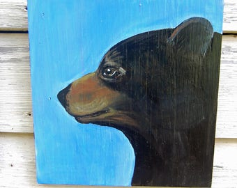 "Original bear acrylic painting ""Ted"""