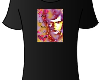 I will love you to death Norman Bates Motel/Freddie Highmore T-shirt.