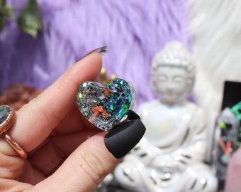 Orgonite® - Heart - Kids Gift - Handmade - Orgone Generator® - Crystals - Gift - EMF Protection - Quartz - HoodXHippie