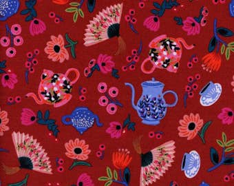 Garden Party Crimson Red - Wonderland - Anna Bond Rifle Paper Co - Cotton + Steel - 8019-02