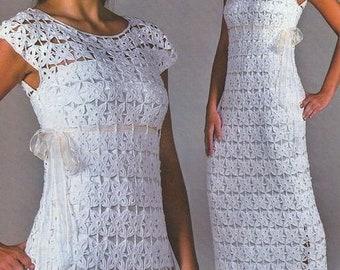 Crochet dress , wedding dress