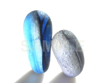 Now In Stock - Art Print of Seaham SeaGlass - Pair of nuzzling Multies - LP9 - From Seaham England