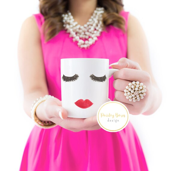 Lashes and Lips MUG  | Lash Bash |  Gift, sister  best friend business partner R+F Lash Boost cheeky