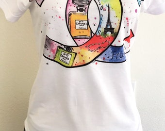 Perfum Paris  woman t-shirt Statement Tee,Graphic Tee, Statement T-shirt,Graphic Tshirt