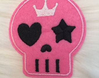 One Cute Pink Skull Patch