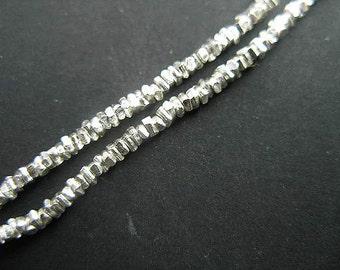160 of Karen Hill Tribe Silver Stick Beads 1.5x0.8 mm. :ka2118