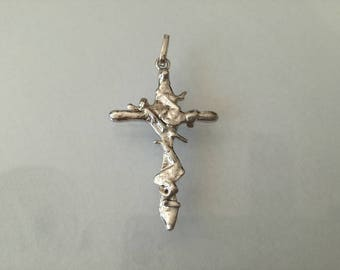 Cross Pendant, Jewelry Pendant, Sterling Silver, Catholic Cross, Religious Jewelry,  Jewelry Sterling Silver Cross, Handmade Cross, Cross