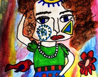 Mixed Media: original painting