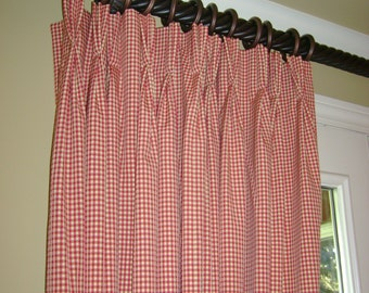 custom window treatments PINCH PLEAT DRAPES Curtains (your fabric)