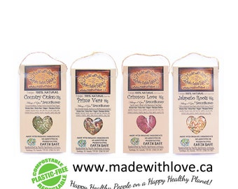 Four Artisan Spice Blends - Eco Green Edible Christmas Gift - Organic Food Market - Kitchen Pantry Herb Spice - DIY Pasta Sauce Mix Dip Mix