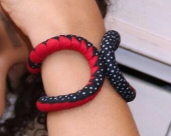 "Bracelet ""Bobo"" black Wax"