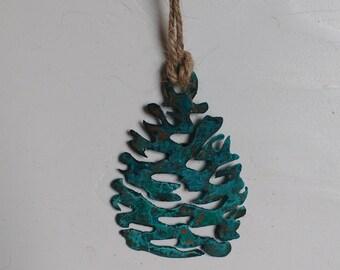 Patina Pine Cone Ornament