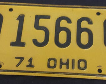 1971 Ohio license plate