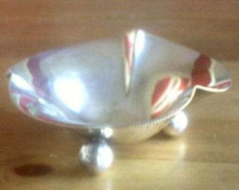 antique silver plate bowl