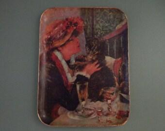 10x14 Renoir Modern Art Tray Paper Mache Decoupage French Impressionism Artist Painting Print Serving Serve Coffee Table Ottoman Wall Hanger