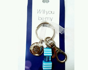 Will you be my bestman, pageboy, gift for bestman, gift for pageboy, wedding momento, best man gift, page boy gift, bestman keyring