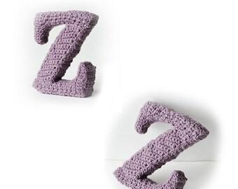 Letter Z Crochet Pattern, 3D Alphabet crochet pattern, 3d words pattern, 3d letters pattern, words home deco, decorative letters crochet
