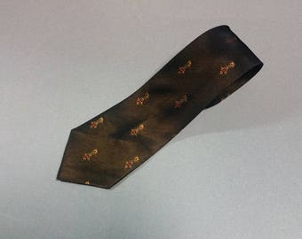 Vintage Men's Skinny Tie by Coronet,  Dark Blue Vintage Skinny Tie