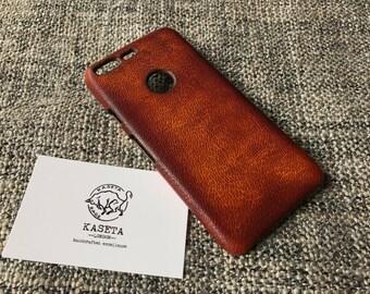Pixel 2 Leather Case, Google Pixel Leather Case, Pixel Case, Pixel xl case 'Old DarkBrown' - Kaseta