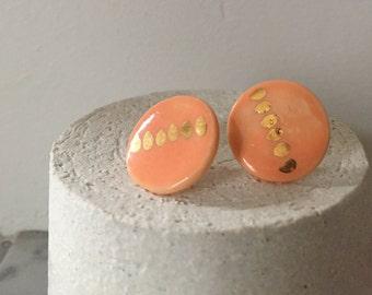 Earing porcelain - Handmade jewelery - purified - made in France